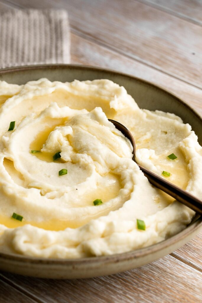 Mascarpone mashed potatoes are creamy, smooth, and comforting. Classic mashed potatoes are given a twist resulting in a super silky and rich mash.   aheadofthyme.com
