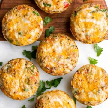 Tex Mex egg muffins are a delicious, filling, and healthy breakfast or snack. They are light and fluffy, perfect for meal prep, and freezer-friendly. | aheadofthyme.com