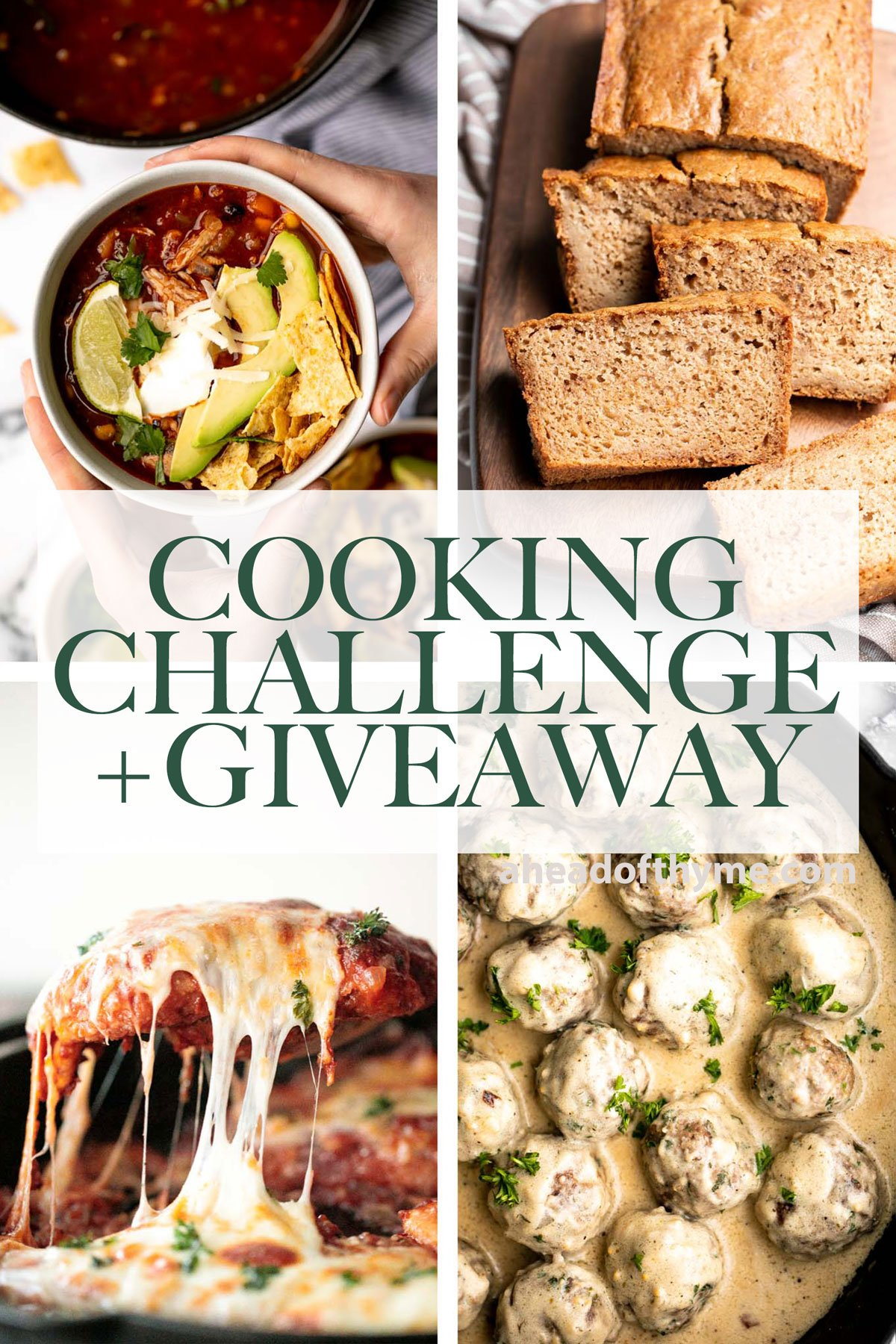 Monthly Cooking Challenge and Giveaway