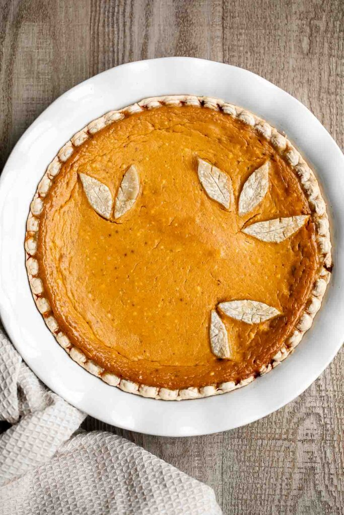 Pumpkin mascarpone pie is a warm and cozy holiday dessert that is incredibly easy to make with just minutes of prep work before popping into the oven.   aheadofthyme.com