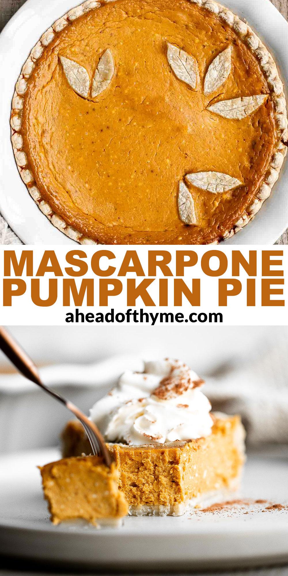 Pumpkin Mascarpone Pie